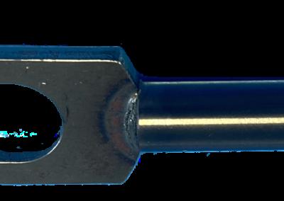 Resistance butt welding cylinder shaft