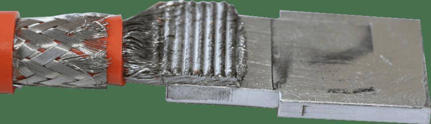 Câble aluminum 50mm² sur busbar aluminium 5mm